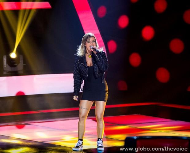 Nicole Cyrne no segundo dia de Audição às Cegas (Foto: Isabella Pinheiro/TV Globo)