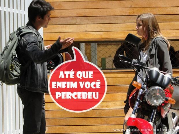 Que isso, Vitor! O cara pegou super pesado com a linda da Lia (Foto: Malhação / TV Globo)