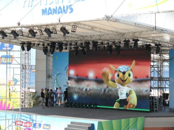 Evento vai transmitir jogos da Copa do Mundo (Foto: Adneison Severiano/G1 AM)