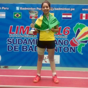 Sayane Lima, no Sul-Americano em Lima, no Peru (Foto: Arquivo Pessoal)