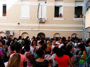 Cerca de 200 estudantes não puderam fazer a prova por falta de salas (Foto: Roger Stilman Silva/Arquivo pessoal)