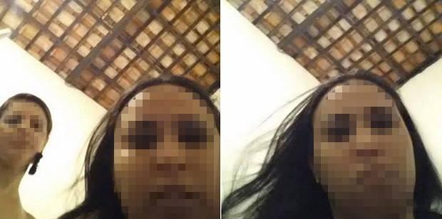 Celular tirou automaticamente foto de susposto ladrão (Foto: Arquivo Pessoal)