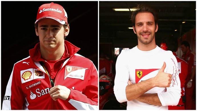 Reservas da Ferrari, o mexicano Esteban Gutiérrez e o francês Jean-Éric Vergne devem disputar uma das vagas da Haas (Foto: Getty Images)