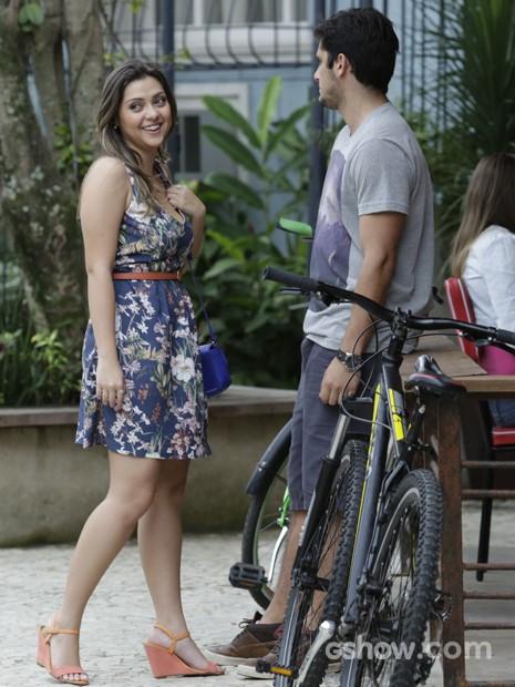 Polliana Aleixo e Bruno Gissoni juntos para interpretar Bárbara e André (Foto: Fábio Rocha / TV Globo)