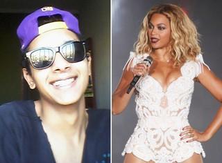 Caio Miller e Beyoncé (Foto: Reprodução)