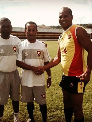 Aloísio Chulapa treina no Sport Atalaia para disputar a Segunda Divisão do Alagoano (Foto: Arquivo Pessoal / Aloísio Chulapa)