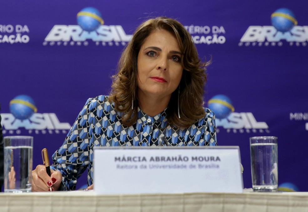 A reitora Márcia Abrahão em cerimônia de posse (Foto: Wilson Dias/Agência Brasil)