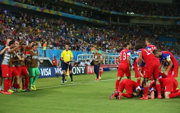 John Brooks comemoração EUA x Gana (Foto: Getty Images)