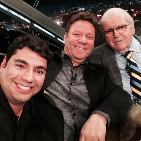 Felipe Bronze, Claude Troisgros e Jô Soares (Foto: Arquivo pessoal)