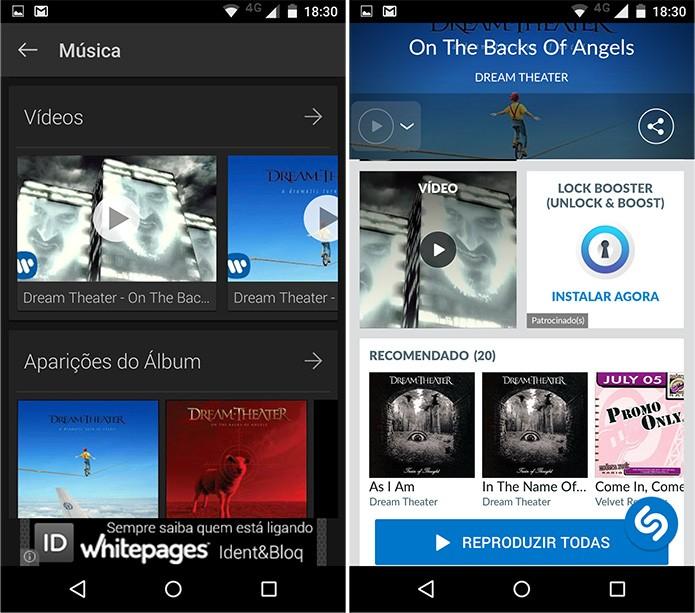 É possível assistir vídeos nos dois aplicativos (Foto: Reprodução)