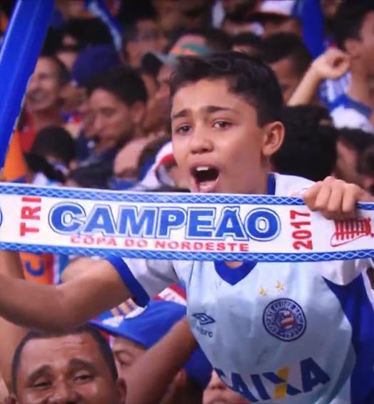 BAHIA CAMPEão! (Reprodução SporTV)