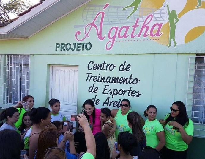 Ágatha Centre de Treinamento Paranaguá (Foto: Reprodução/Redes sociais)