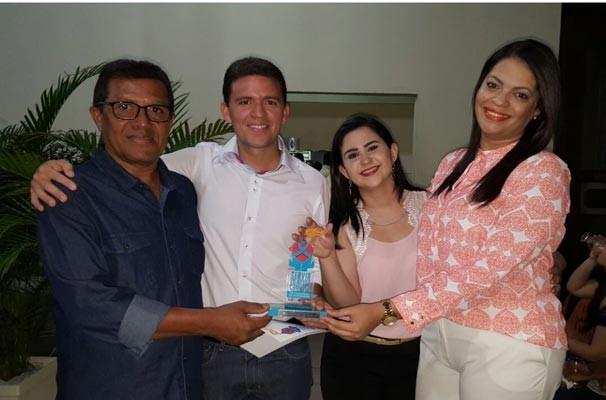 Carlos Alberto, Felipe Pereira, Aline Urquiza e Aniele Teixeira (Foto: TV Clube)