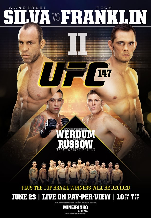 Novo pôster do UFC 147, com Wanderlei Silva e Rich Franklin (Foto: Divulgação / UFC)