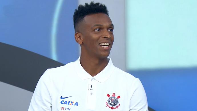 Jô, atacante do Corinthians, no Bem, Amigos! (Foto: Reprodução SporTV)