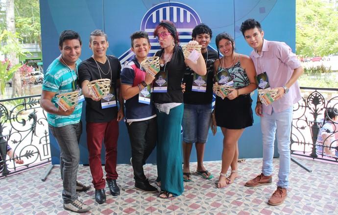 Os sete primeiros colocados ganharam brindes do programa (Foto: Katiúscia Monteiro/ Rede Amazônica)