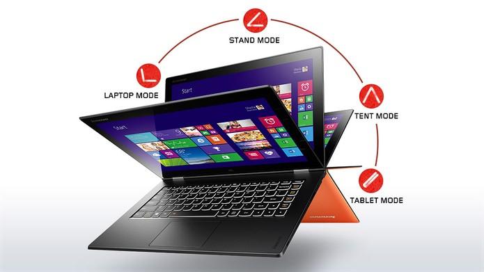 Yoga Pro 2 é um ultrabook fino da Lenovo e que pode ser usado em diversas posições (Foto: Divulgação/Lenovo)