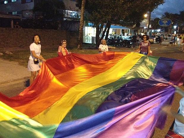 Parada Gay na capital paraibana  (Foto: Walter Paparazzo/G1)