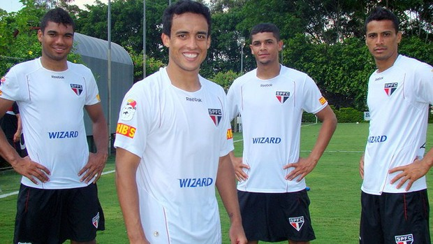 Denilson, Casemiro, Cícero e Jadson - SãoPaulo (Foto: Site Oficial / saopaulofc.net)