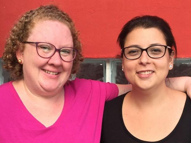 Fernanda Seiffert, 38 anos, e Renata Ferraz, 35 anos, proprietárias da Cãolinária (Foto: Divulgação)