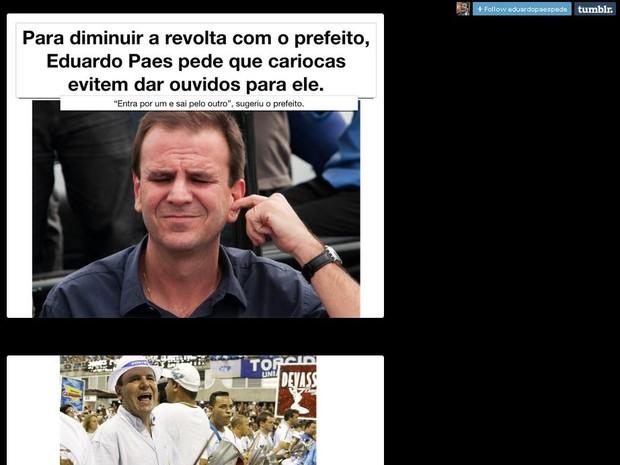 Pedidos de Eduardo Paes viram piada na internet (Foto: Reprodução/ Tumblr/ Evitem o Rio)