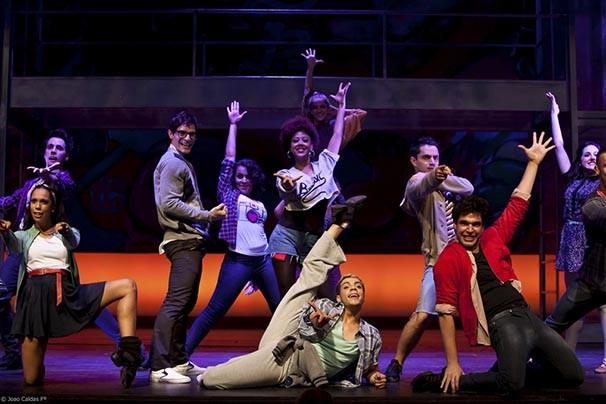Cena do musical 'Fame' (Foto: João Caldas)