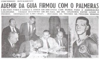 Reportagem Ademir da Guia Palmeiras contratação (Foto: Divulgação/ Site Oficial do Palmeiras)