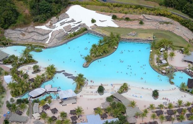 Vista panorâmica da Praia do Cerrado no Hot Park, em Goiás (Foto: Divulgação/ Rio Quente Resorts)