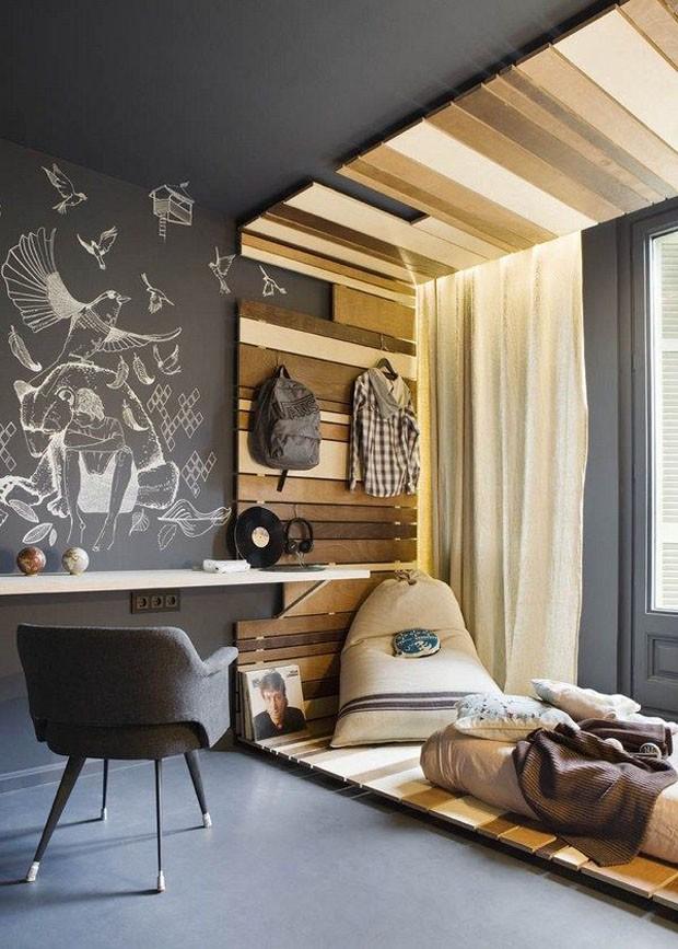 Décor do dia: madeira no quarto atual