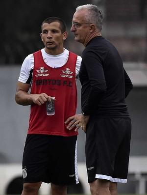Vecchio e Dorival Júnior, Santos (Foto: Ivan Storti/Santos FC)