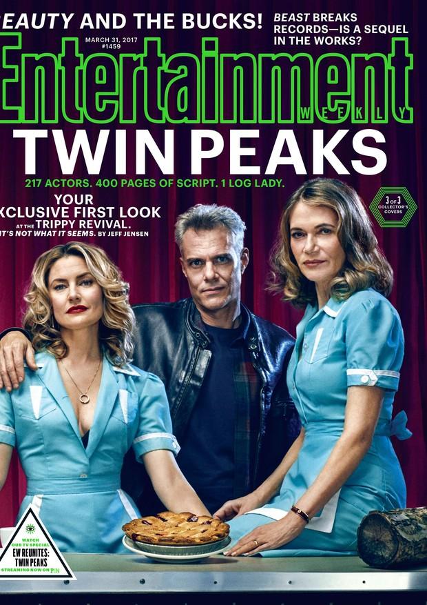 Capa da Entertainment Weekly com o elenco de Twin Peaks (Foto: Reprodução)