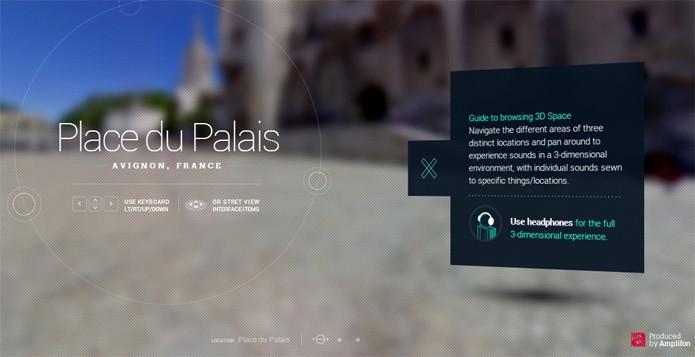 Projeto permite ouvir som ambiente ao navegar no Street View (foto: Reprodução/Amplifon)