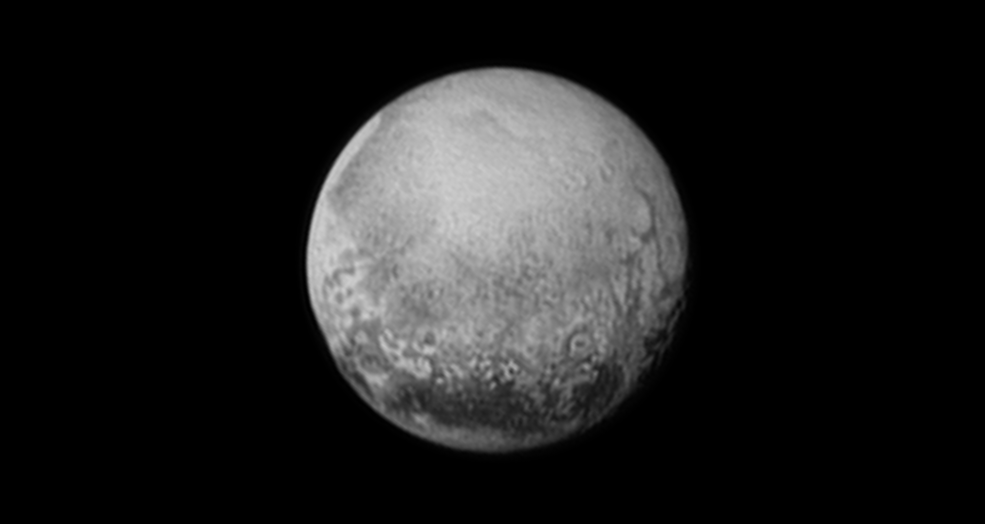 Nova imagem feita pela sonda New Horizons mostra Plutão mais de perto. Equipamento da Nasa está chegando cada vez mais próximo do planeta anão (Foto: NASA/JHUAPL/SWRI)