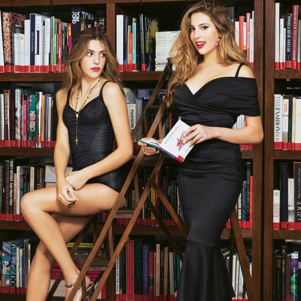 Sophia e Sistine Stallone (Foto: Reprodução)