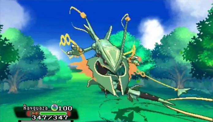 Rayquaza é o mais novo pokémon a ganhar uma Mega Evolução em Omega Ruby e Alpha Sapphire (Foto: Reprodução: YouTube)
