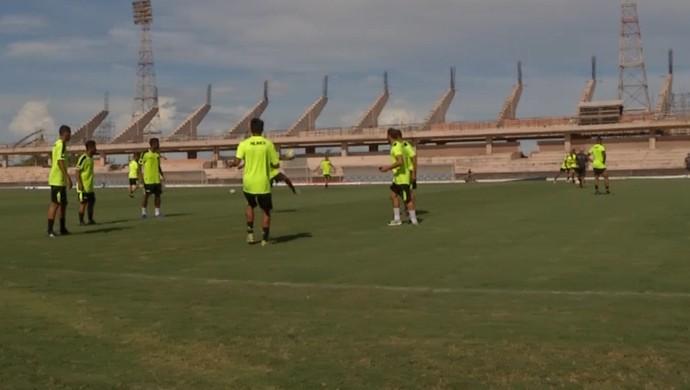 Botafogo-PB, treino (Foto: Reprodução / TV Tapajós)