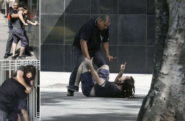 Taxista e passageiro brigaram no meio da rua (Foto: Agência O Dia / Estadão Conteúdo)