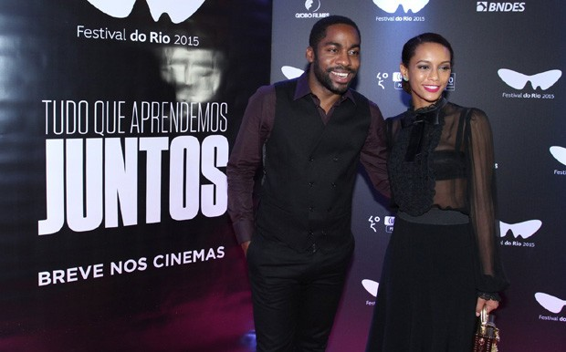 Tais Araújo e Lázaro Ramos (Foto: Alex Palarea/AGnews)