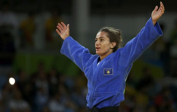 Majlinda Kelmendi, primeira medalha de Kosovo - Rio 2016 (Foto: Reuters)