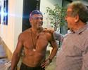 Belfort faz gol em pelada na casa de Zico, mas ouve: 'Fez a opção certa'