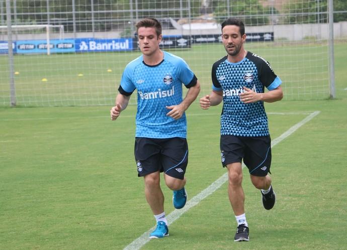 Ramiro Grêmio treino CT Luiz Carvalho (Foto: Eduardo Deconto/GloboEsporte.com)
