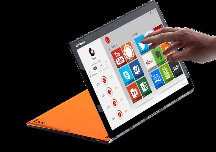 Lenovo Yoga Pro 3 é um ultrabook superfino com processador Core M (Foto: Divulgação/Lenovo)