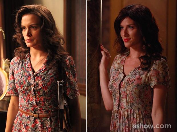 Será que Cristina conseguiu ficar parecida com Amélia? Confira! (Foto: Joia Rara/TV Globo)