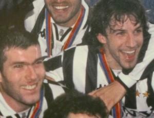 Del Piero e Zidane no Juventus arquivo (Foto: Cahê Mota / Globoesporte.com)