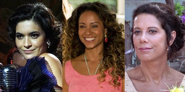 Descubra as cores por trás dos makes de Cristal, Nicole e Lindaura (Foto: Flor do Caribe / TV Globo)