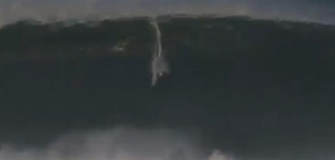 Vaca sofrida pelo surfista brasileiro Pedro Calado, em maio do ano passado (Foto: Reprodução)