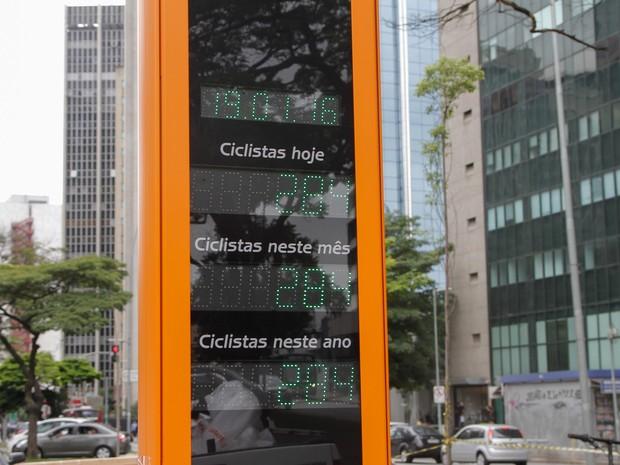 Contadores detectarão a passagem dos ciclistas em tempo real. (Foto:  Marivaldo Oliveira/Futura Press/Estadão Conteúdo)