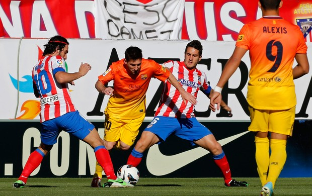 messi atletico de madrid x barcelona (Foto: AP)