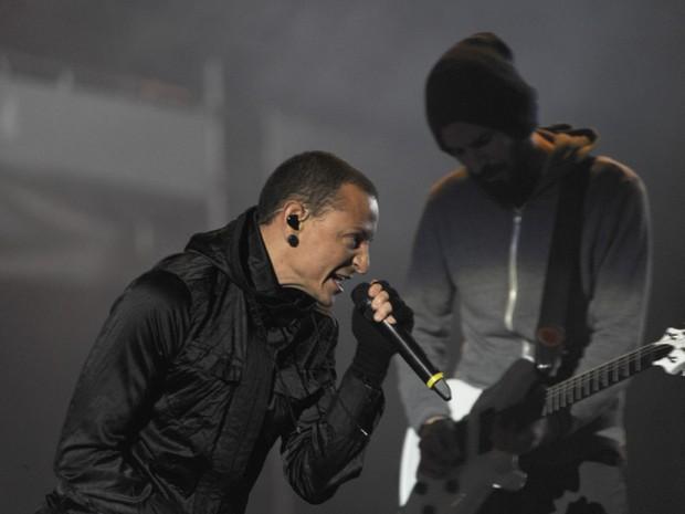 Linkin Park no SWU (Foto: Flavio Moraes/ G1)