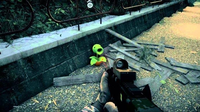 Personagem de PvZ fez uma breve aparição no game (Foto: Reprodução/Youtube)